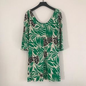 Diane Von Furstenberg Palm Print Dress Size 4